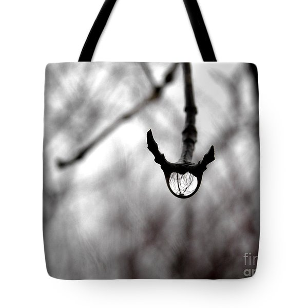 The Foretelling - Raindrop Reflection Tote Bag by Angie Rea