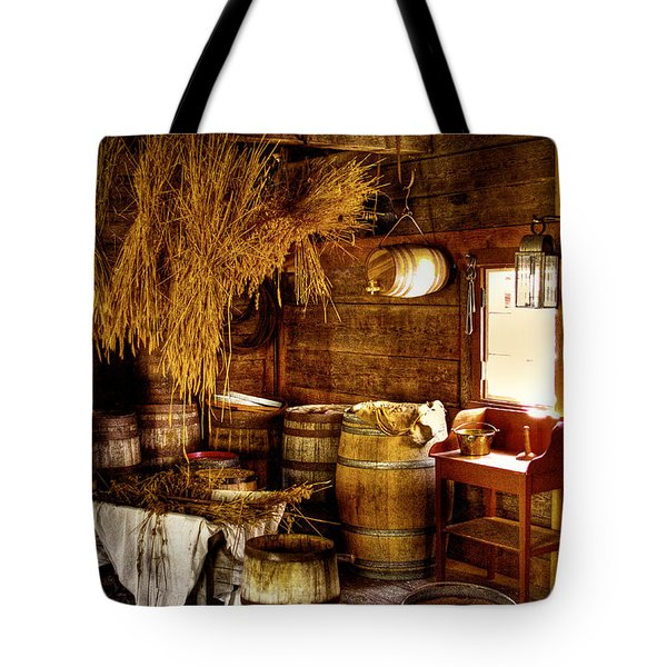The Fort Nisqually Granary Tote Bag by David Patterson