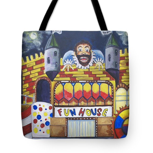 The Funhouse Castle Tote Bag by Patricia Arroyo