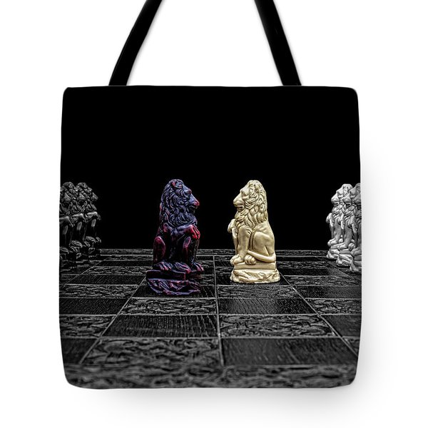 The Game Begins Tote Bag by Doug Long