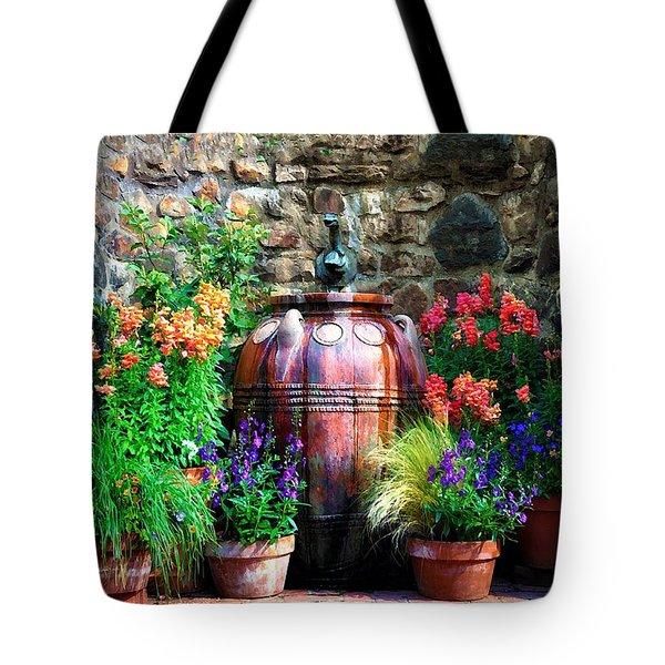 The Garden Cistern Tote Bag