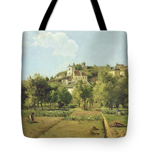 The Gardens Of The Hermitage Tote Bag by Camille Pissarro