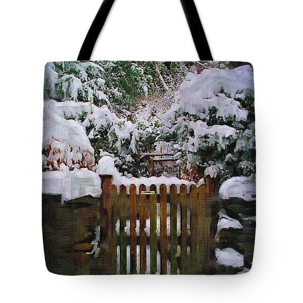 The Gate Tote Bag by Amanda Moore