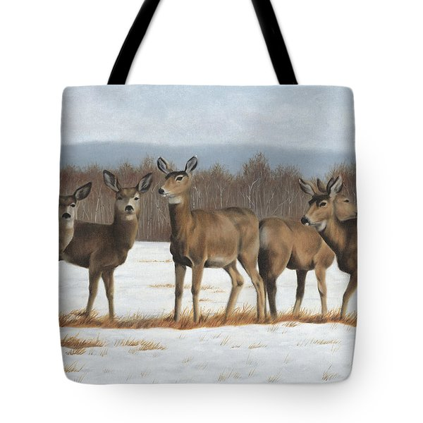 Tote Bag featuring the painting The Gathering by Tammy Taylor