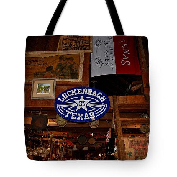 The General Store In Luckenbach Tx Tote Bag by Susanne Van Hulst