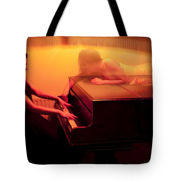 The Girl And The Ghost Tote Bag by Semmick Photo