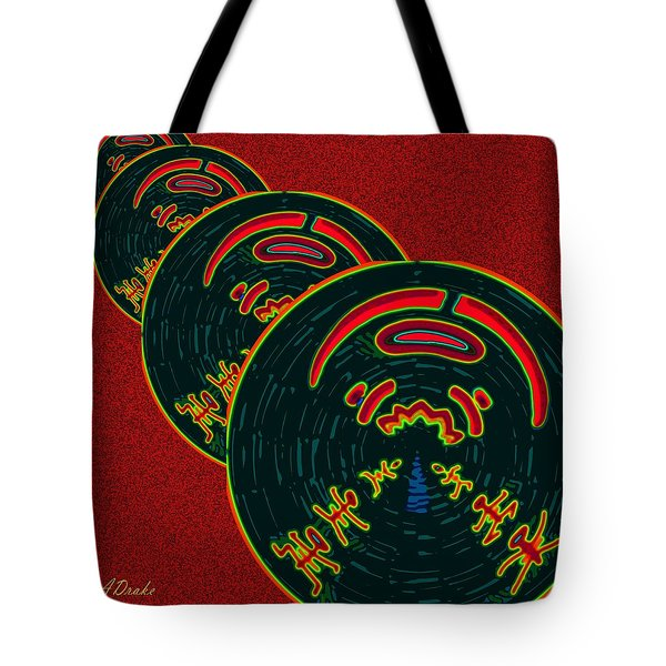 The God Of Fire Family Tree Tote Bag by Alec Drake
