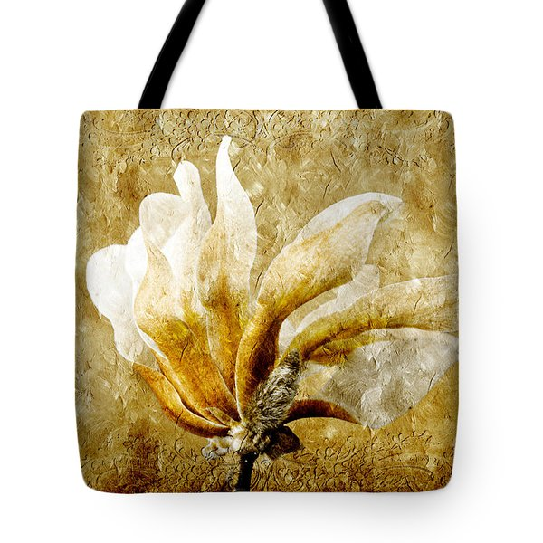 The Golden Magnolia Tote Bag by Andee Design