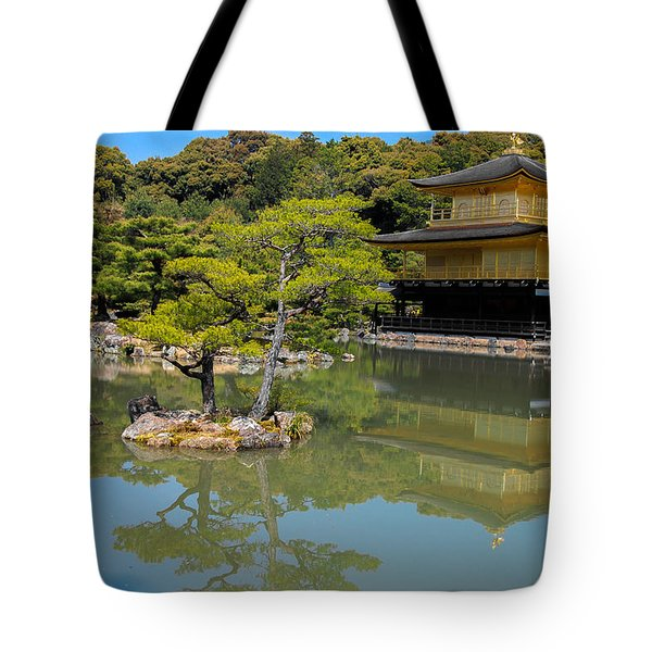 The Golden Pavilion Tote Bag