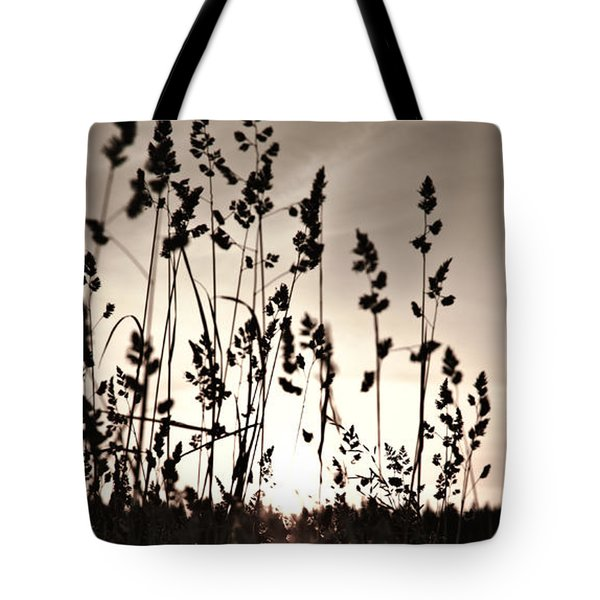 The Grass At Sunset Tote Bag