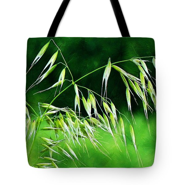 Tote Bag featuring the photograph The Grass Seeds by Steve Taylor