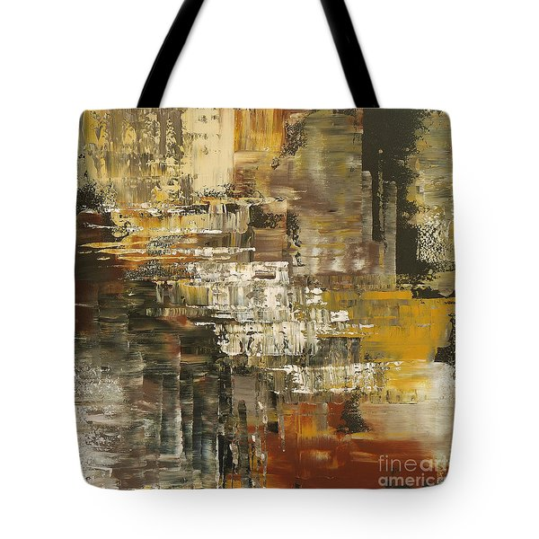 Tote Bag featuring the painting The Gravelpit Code by Tatiana Iliina
