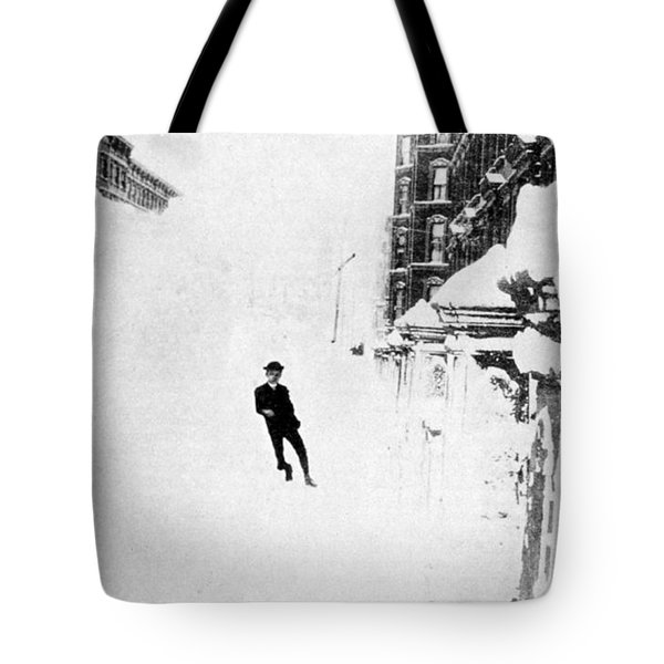 The Great Blizzard, Nyc, 1888 Tote Bag by Science Source