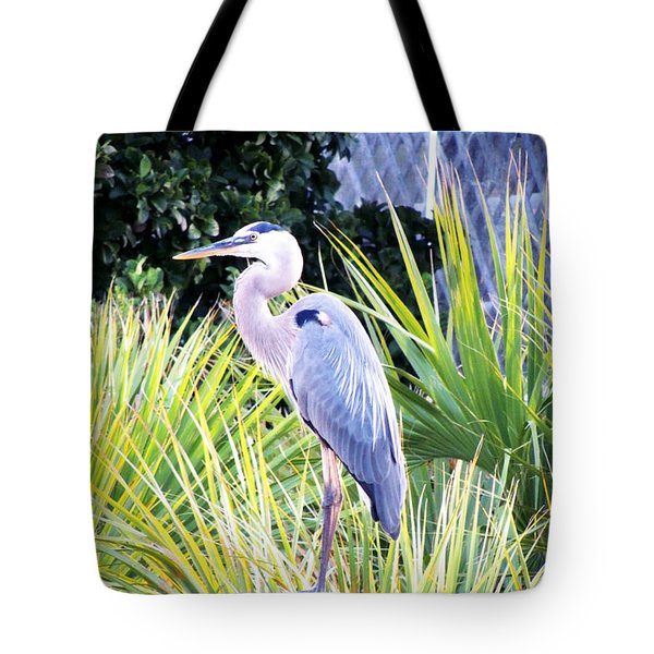 The Great Blue Heron Tote Bag by Marilyn Holkham