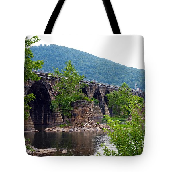 The Great Old Bridge Tote Bag by Robert Margetts