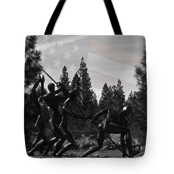 Tote Bag featuring the photograph The Greatest Generation  by Larry Depee