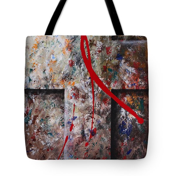 Tote Bag featuring the painting The Greatest Love by Kume Bryant