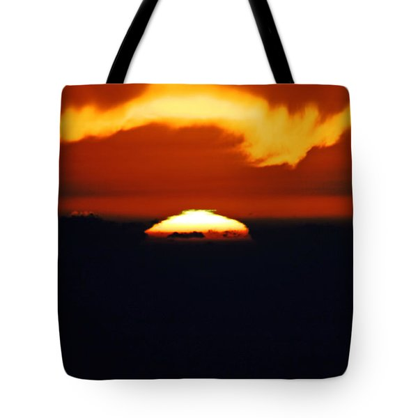 The Green Flash Is A Rare Sunset Tote Bag