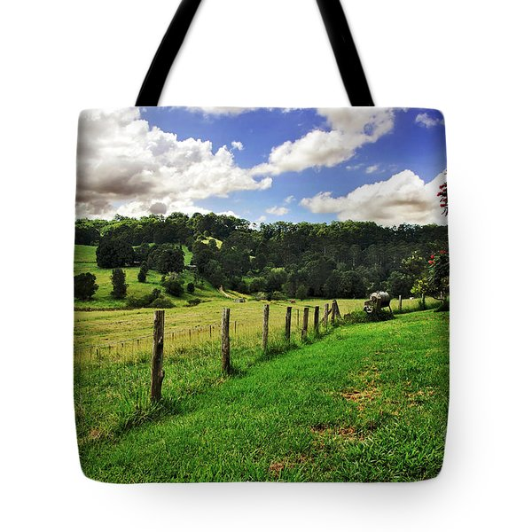 The Green Green Grass Of Home Tote Bag by Kaye Menner