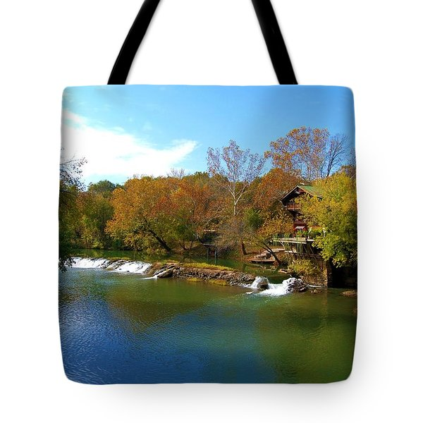 Tote Bag featuring the photograph The Grist Big River by Peggy Franz