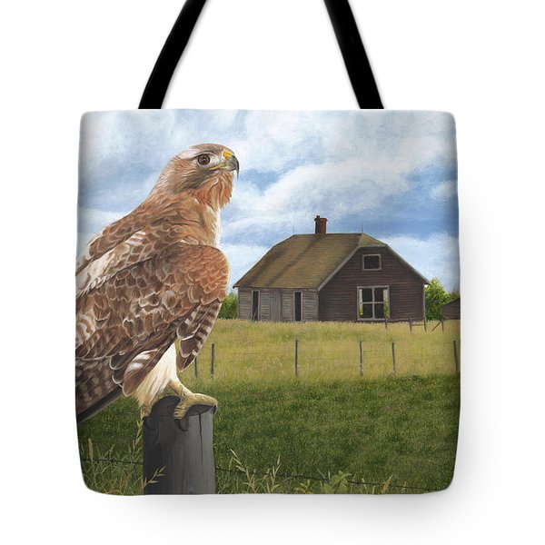 Tote Bag featuring the painting The Grounds Keeper by Tammy Taylor