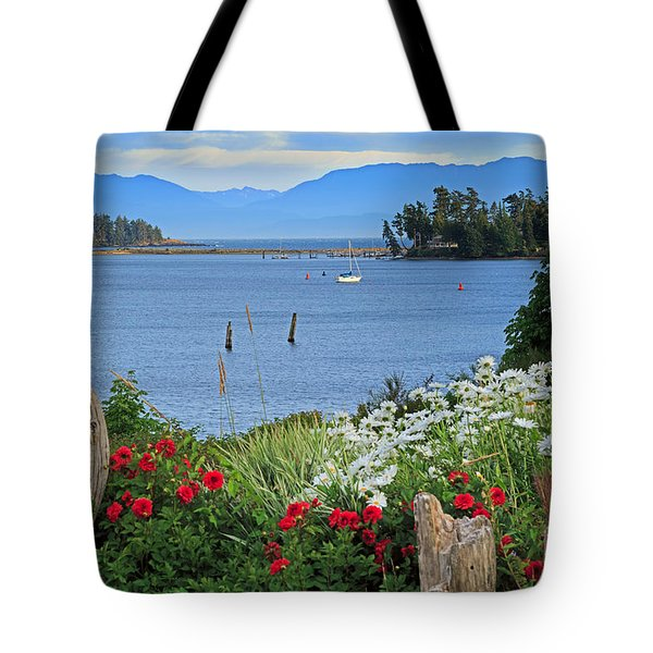 The Harbor At Sooke Tote Bag by Louise Heusinkveld