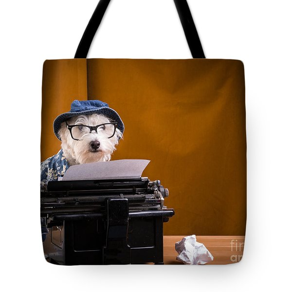 The Hard Boiled Journalist Tote Bag by Edward Fielding