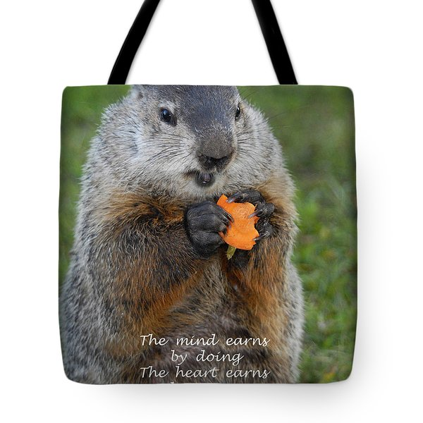 The Heart Earns By Trying Tote Bag by Paul W Faust -  Impressions of Light