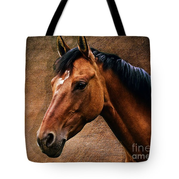 The Horse Portrait Tote Bag