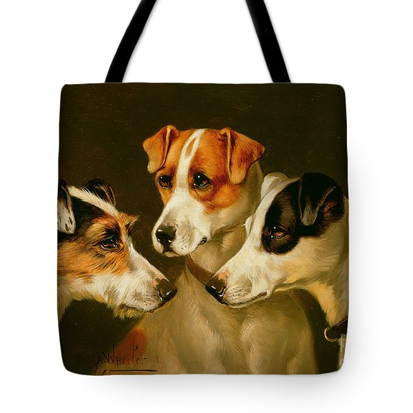 The Hounds Tote Bag by Alfred Wheeler