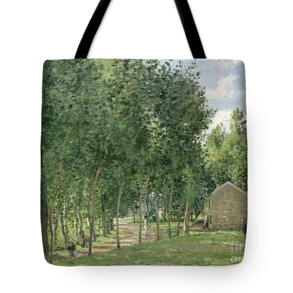 The House In The Forest Tote Bag by Camille Pissarro