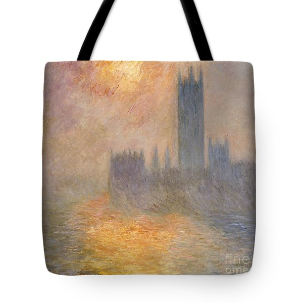 The Houses Of Parliament At Sunset Tote Bag