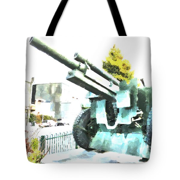 The Howitzer 105mm Field Gun Carriage Tote Bag