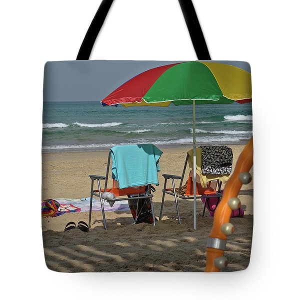 Tote Bag featuring the photograph The Idyll On The Mediterranean Shore by Michael Goyberg