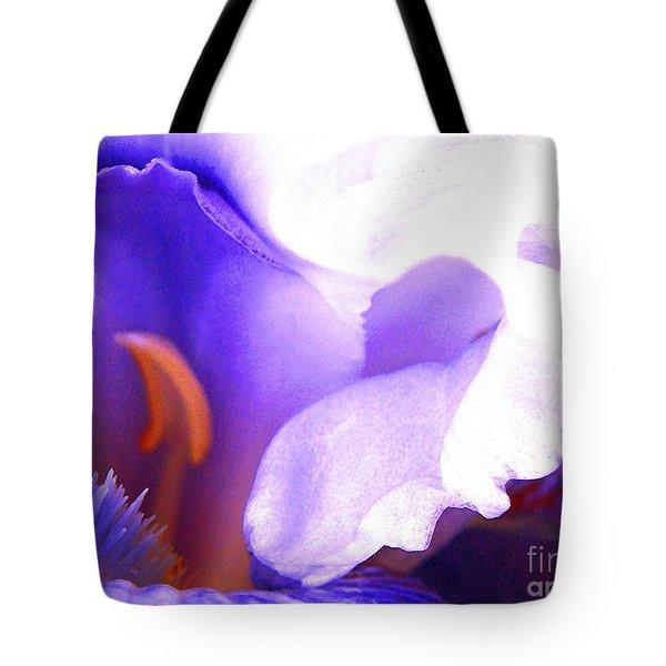 The Intimate Iris Tote Bag by Jerome Stumphauzer
