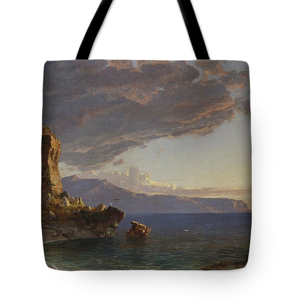 The Isle Of Capri Tote Bag by Jasper Francis Cropsey