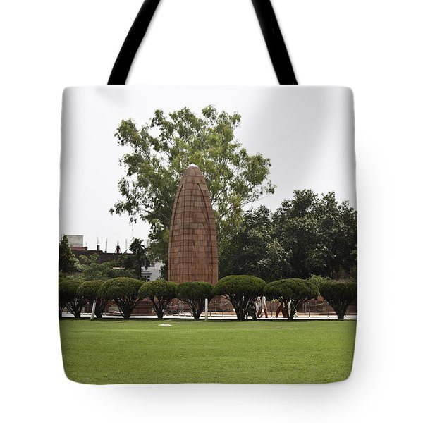 Tote Bag featuring the photograph The Jallianwala Bagh Memorial In Amritsar by Ashish Agarwal