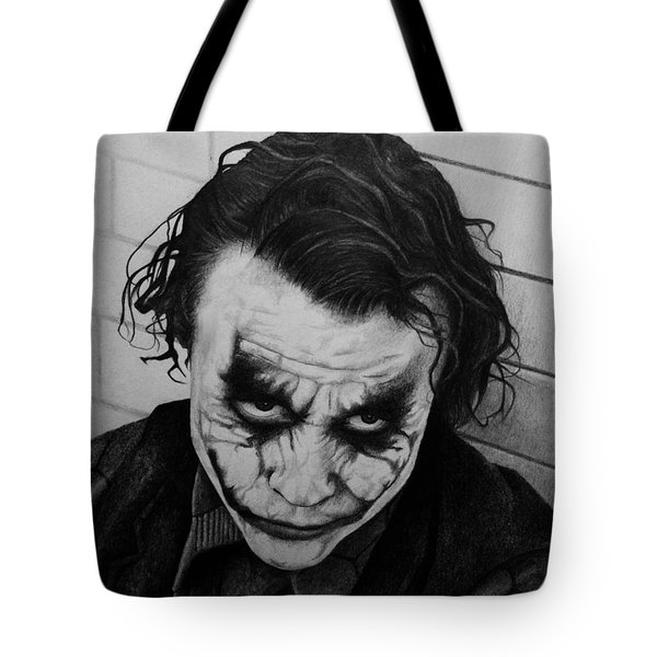 The Joker Tote Bag by Carlos Velasquez Art