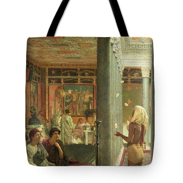 The Juggler Tote Bag by Sir Lawrence Alma-Tadema
