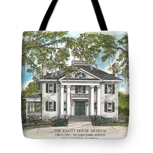 The Knott House Circa 1843 Tote Bag