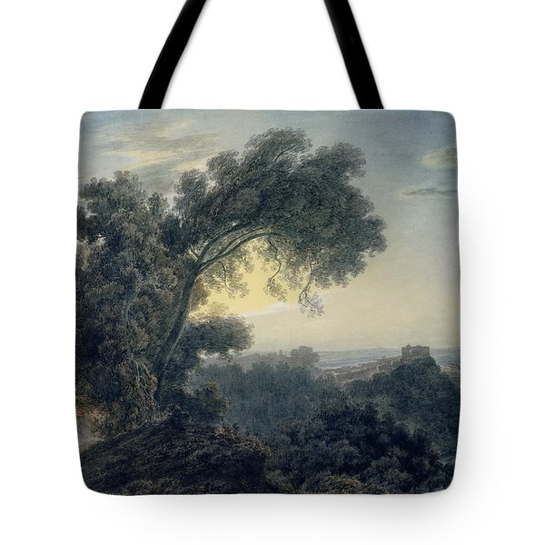 The Lake Of Albano And Castle Gandolfo  Tote Bag by John Robert Cozens