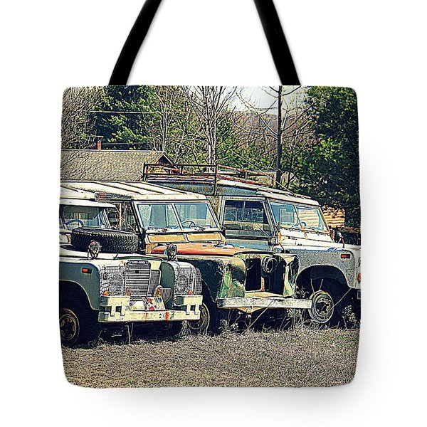 The Land Rover Graveyard Tote Bag