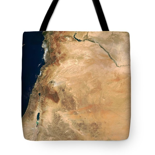 The Lands Of Israel Along The Eastern Tote Bag by Stocktrek Images