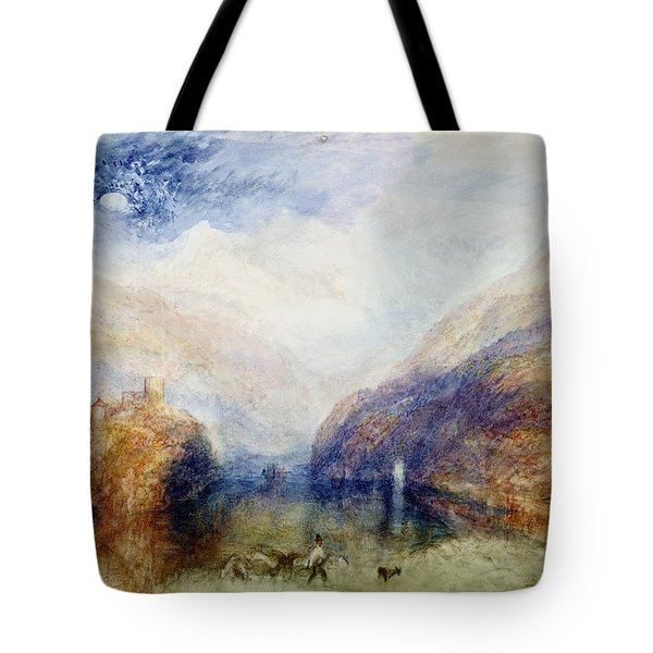 The Lauerzersee With The Mythens Tote Bag by Joseph Mallord William Turner