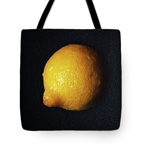 The Lazy Lemon Tote Bag by Andee Design