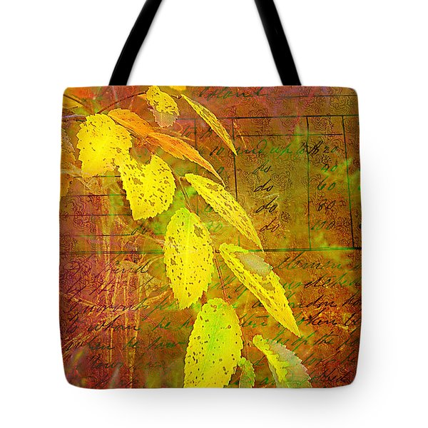 The Leaves Of Yesteryear Tote Bag by Judi Bagwell
