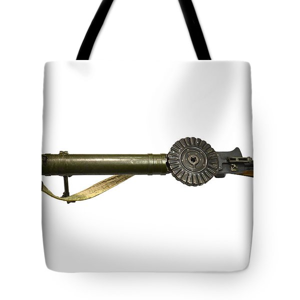 The Lewis Automatic Machine Gun Tote Bag by Andrew Chittock