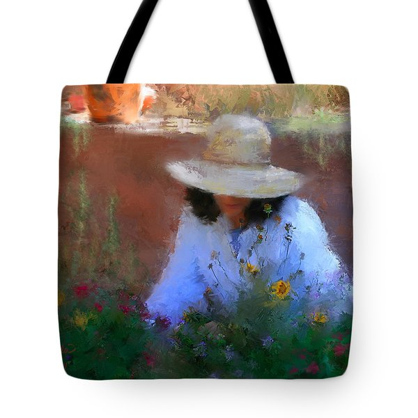The Light Of The Garden Tote Bag by Colleen Taylor