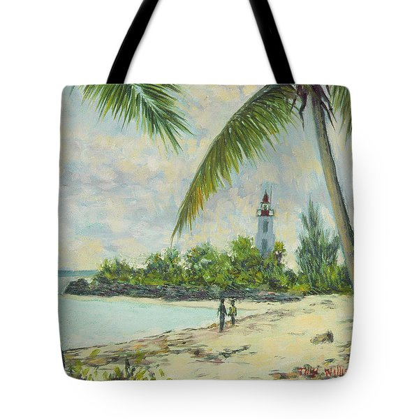The Lighthouse - Zanzibar Tote Bag by Tilly Willis