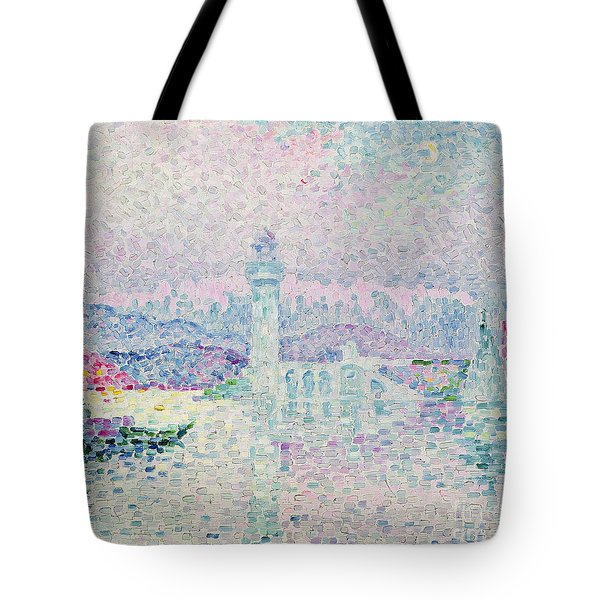 The Lighthouse At Antibes Tote Bag by Paul Signac